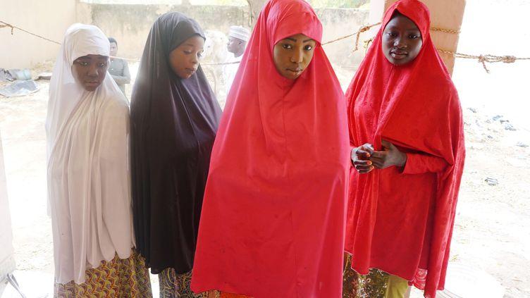 Des lycéennes ont pu échapper aux griffes de Boko Haram, en février 2018. (AMINU ABUBAKAR / AFP)