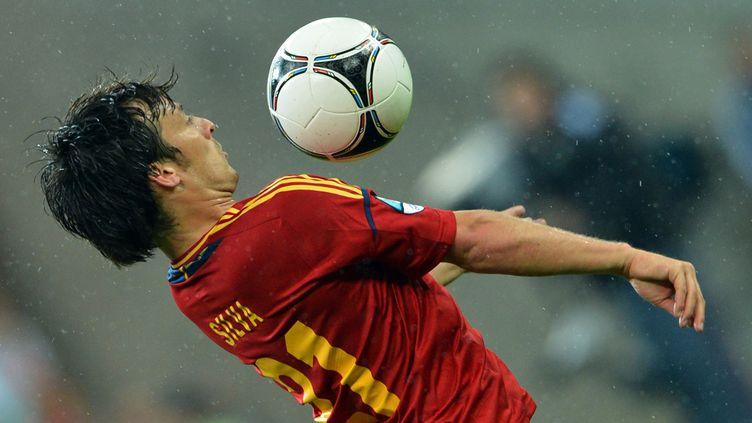 David Silva, un des meilleurs espagnols contre l'Irlande lors de la victoire 4-0 de la Roja, le 14 juin 2012. (GABRIEL BOUYS / AFP)