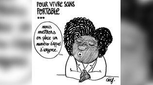Le dessin qui a permis à Céèf, Français de 24 ans, de remporter le prix Dessin Charlie 2020. (Céèf)
