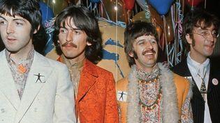 Beatles avec Paul McCartney, George Harrisson, Ringo Starr etJohn Lennon, Hilversum (Pays-Bas) 1975  (ANP/AFP)
