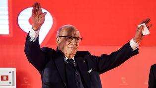 Le président tunisien,Béji Caïd Essebsi, le 6 avril 2019, lors d'un déplacement à Monastir. (FETHI BELAID / AFP)