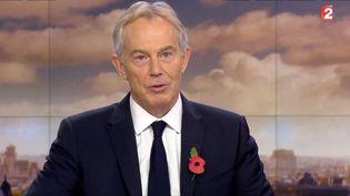 L'ancien Premier ministre britannique Tony Blair invité du journal de France 2 le 5 novembre 2014 (FRANCE 2)