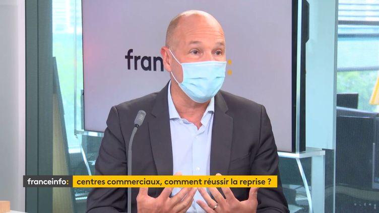 Jean-Marc Jestin, président du directoire de Klepierre, invité éco de franceinfo le 26 mai 2021. (FRANCEINFO / RADIO FRANCE)