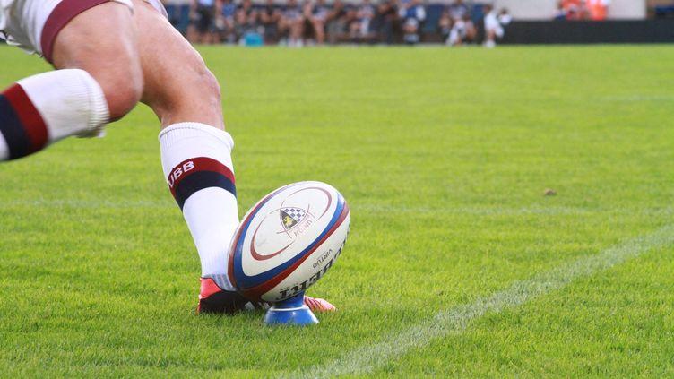 Ballon de rugby au stade Chaban-Delmas. (PIERRE BRETEAU / FRANCE-BLEU GIRONDE)