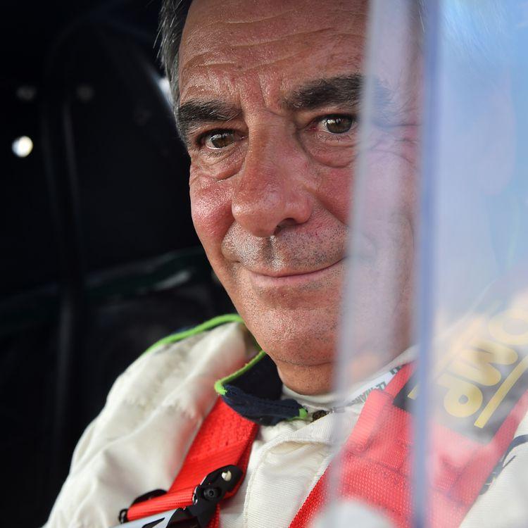 François Fillon lors d'une course automobile, au Mans (Sarthe), le 7 juillet 2018. (JEAN-FRANCOIS MONIER / AFP)