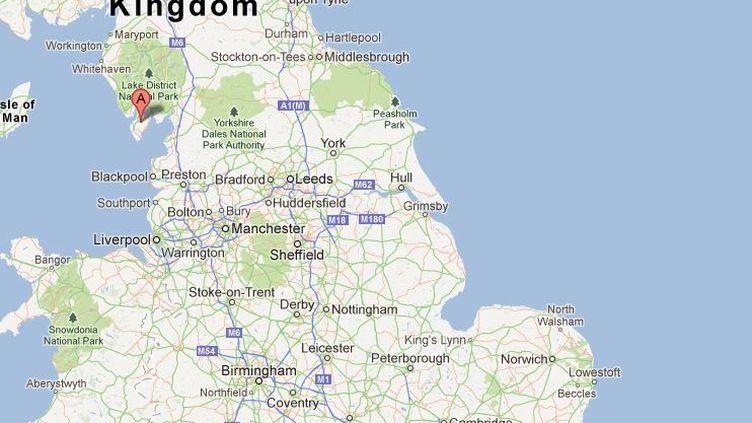 Le drame s'est priduit vendredi 24 mai 2013 à Dalton-in-Furness (nord-ouest de l'Angleterre). ( GOOGLE MAPS / FRANCETV INFO )