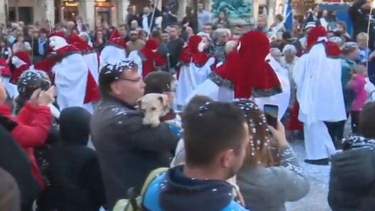 Le carnaval de Limoux, dans l'Aude. (CAPTURE D'ÉCRAN FRANCE 3)