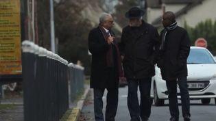 Le prêtre, le rabbin et le président de la communauté musulmanedeRis-Orangis. (Capture d'écran France 3)