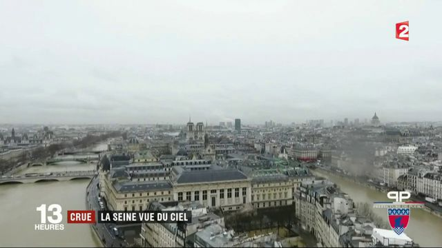 Inondations : la crue de la Seine vue du ciel