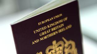 Photo d'illustration montrant un passeport britannique, le 06 juillet 2016. (BRITTA PEDERSEN / DPA-ZENTRALBILD / AFP)