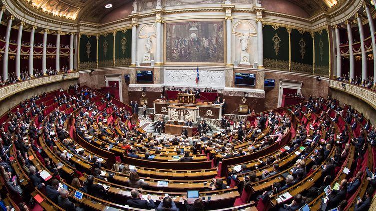 L'Assemblée nationale photographiée le 6 décembre 2017. (BERTRAND GUAY / AFP)