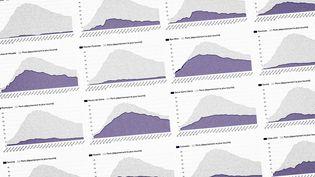 Evolution du nombre de patients en réanimation par département (FRANCEINFO)