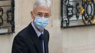 Lepréfet de police de Paris, Didier Lallement, quitte l'Elysée après une rencontre avec le président de la République, le 15 octobre 2020. (LUDOVIC MARIN / AFP)