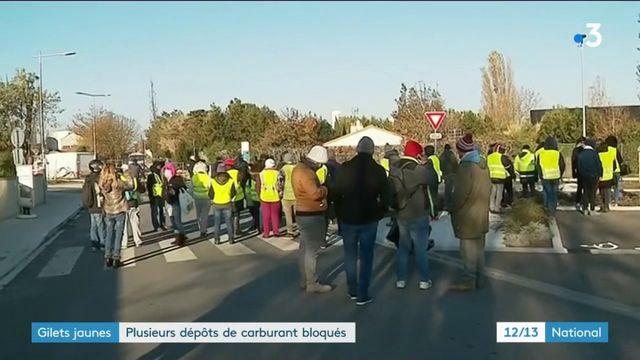 """""""Gilets jaunes"""" : plusieurs dépôts de carburant bloqués"""