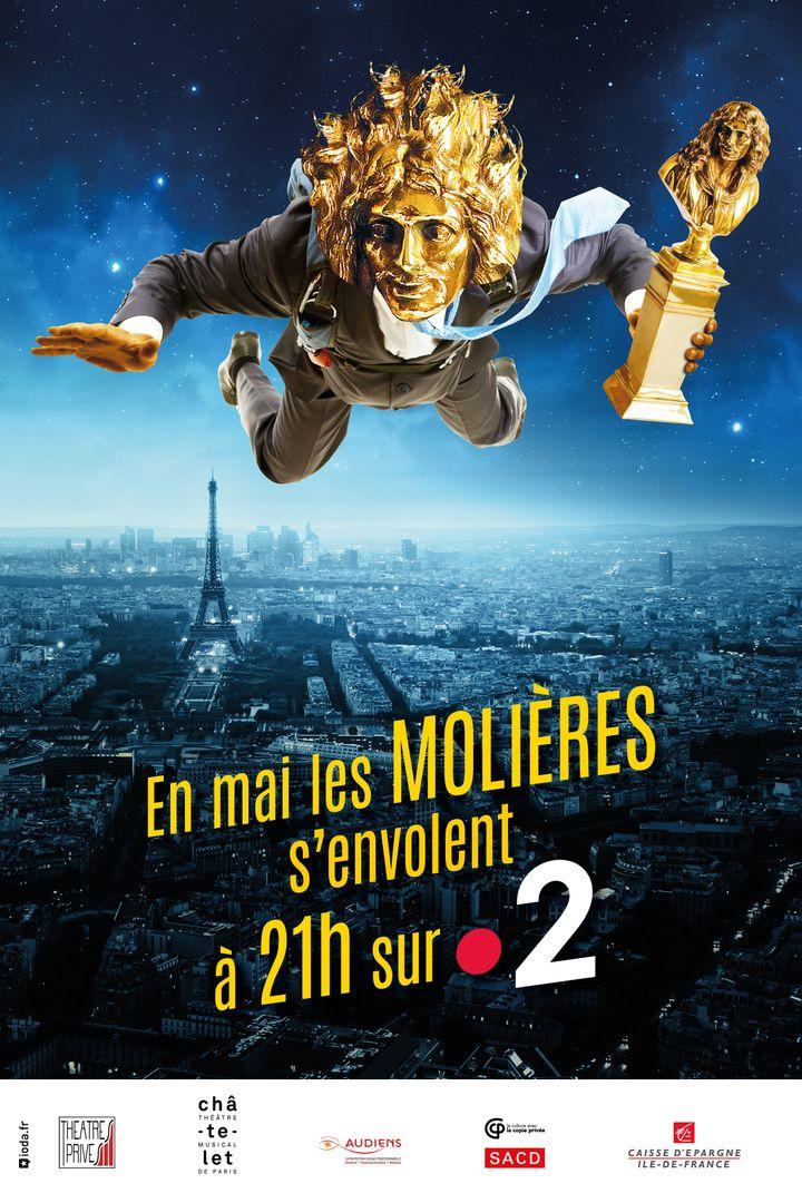 Affiche de la soirée des Molières 2020 (France Télévisions)