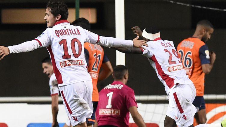 Les Montpellierains se se font surprendre par Ajaccio à l'Altrad Stadium. (PASCAL GUYOT / AFP)