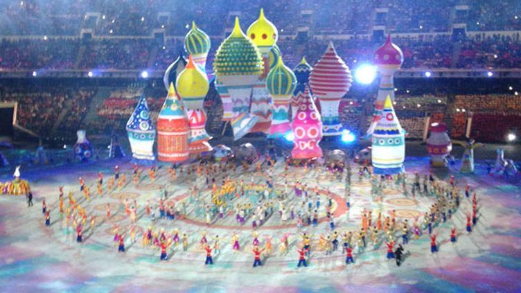 Une des scènes de la cérémonie d'ouverture
