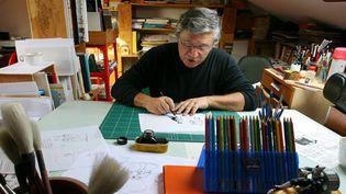 Michel Iturria, dans son atelier à Bordeaux en septembre 2008  (JJ Saubi / Sud Ouest)