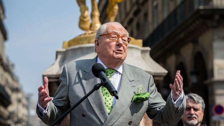 Le cofondateur du Front national Jean-Marie Le Pen, le 1er mai 2019 à Paris. (MAXPPP)