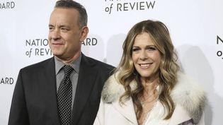 Tom Hanks etsa femmeRita Wilson, le 11 mars 2020 à New York (JOHN NACION / STAR MAX / IPX / AP / SIPA)
