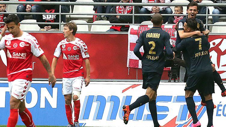 Bernardo Silva a libéré l'ASM en marquant après dix minutes de jeu (FRANCOIS NASCIMBENI / AFP)