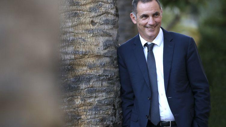 Le président sortant du conseil exécutif corse, Gilles Simeoni, le 25 mai 2021 en Corse. (PASCAL POCHARD-CASABIANCA / AFP)