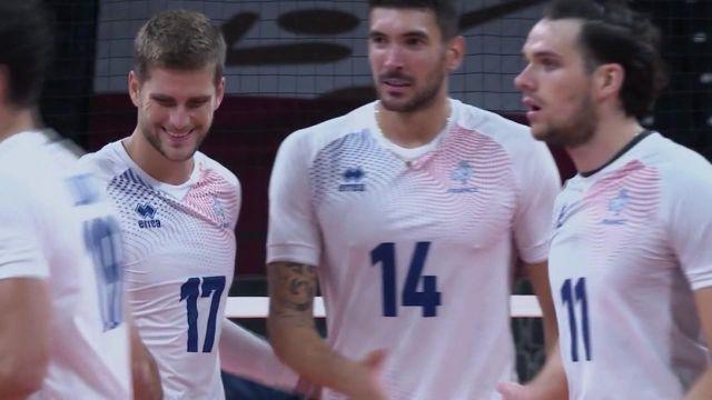 L'équipe de France remporte son deuxième set face à la Tunisie dans ce match de Volleyball de phase éliminatoire.