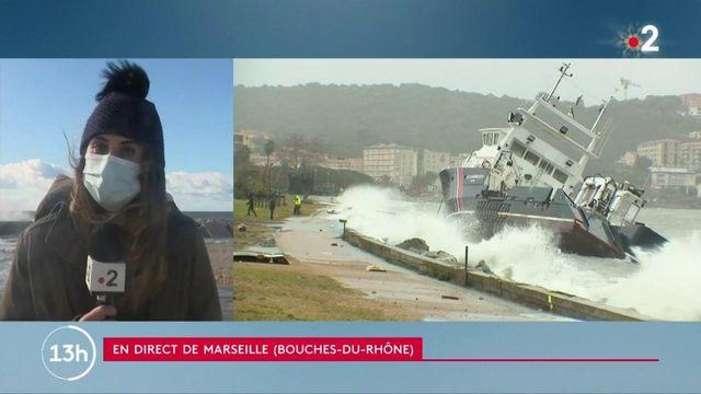 Tempête Bella : un bateau s'est échoué dans le golfe d'Ajaccio