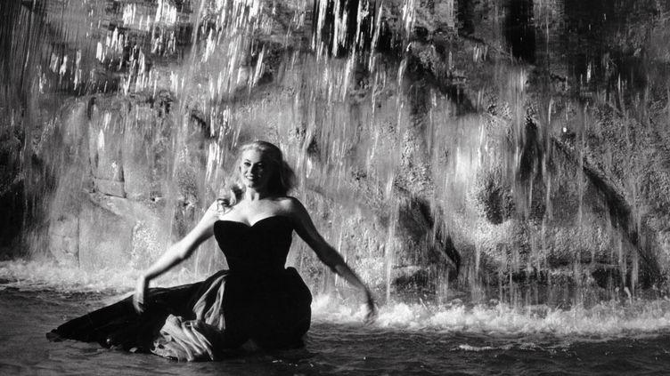 "L'actrice suédoise Anita Ekberg dans ""La Dolce Vita"", en 1960. (KOBAL / THE PICTURE DESK / AFP)"