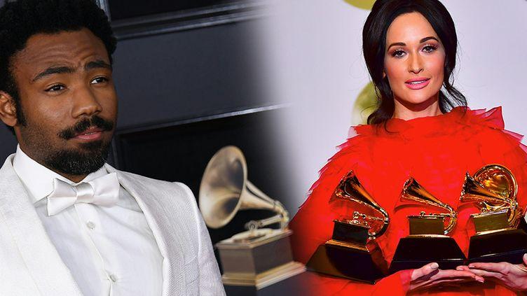 Childish Gambino et Kacey Musgraves, Grammy Awards 2019  (ANGELA WEISS / AFP et FREDERIC J. BROWN / AFP)