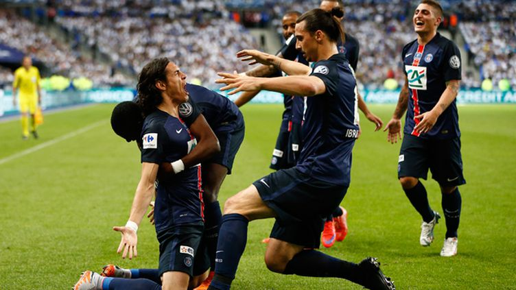 (Edinson Cavani a marqué l'unique but de la rencontre et offert la Coupe de France au PSG © MAXPPP)