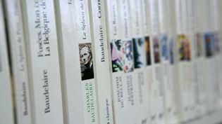 Rayon d'une librairie réservé à Charles Baudelaire, poète. Photo d'illustration. (LOIC VENANCE / AFP)