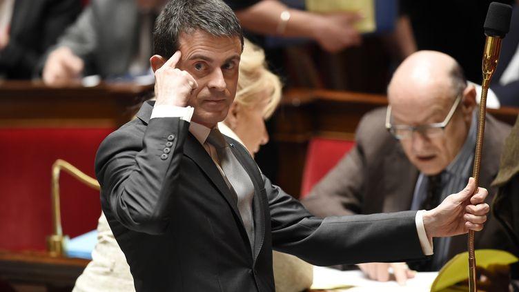 Manuel Valls à l'Assemblée nationale le 1er avril 2015 (ERIC FEFERBERG / AFP)