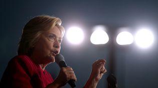La candidate démocrate à l'élection présidentielle américaine, Hillary Clinton, lors d'un meeting à Harrisburg en Pennsylvanie, le 29 juillet 2016. (JUSTIN SULLIVAN / AFP)
