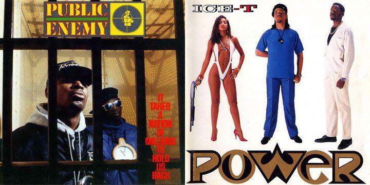 Des pochettes de Public Enemy et Ice T signées Glen. E.Friedman  (DR)