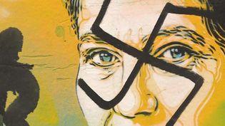 Des tags antisémites ont été découverts sur les vitrines de plusieurs magasins à Paris. Des portraits de Simone Veil ont été barrés d'une croix gammée. (FRANCE 3)