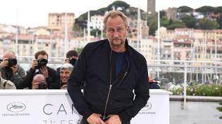 """""""Je ne sacralise pas le cinéma"""", affirme l'acteur Benoît Poelvoorde, ici le 13 mai 2018 à Cannes. (ANNE-CHRISTINE POUJOULAT / AFP)"""