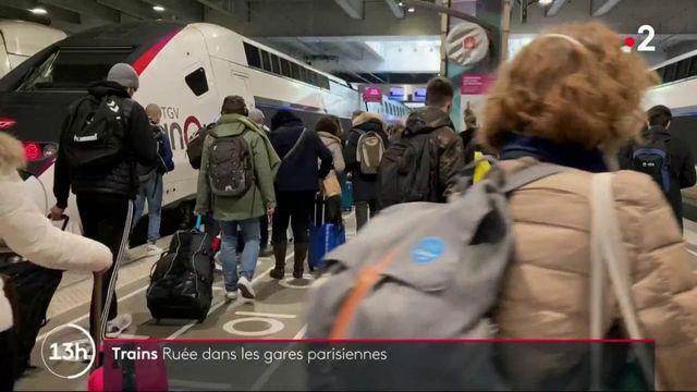 Confinement : les Franciliens se ruent dans les gares parisiennes
