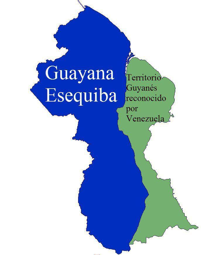 Guayana Esequiba regardingGuyana(Le territoire d'Essequibo vu du Guyana) (CC BY-SA 3.0 - https://en.wikipedia.org/?title=Guayana_Esequiba#/media/File:Guayana_Esequiba_2.JPG)