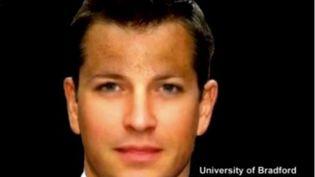Selon lescalculs des scientifiques de l'Université de Bradford (Royaume-Uni), voici à quoi devrait ressemblerle Prince Georges à l'âge de 40 ans (UNIVERSITY OF BRADFORD / REUTERS / YOUTUBE)