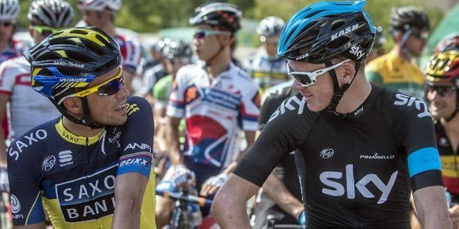 Alberto Contador et Chris Froome
