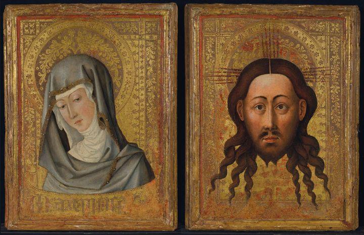 Vierge en buste et Sainte Face, peintre valencien, vers 1450 (© Christie's)