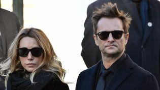 Les aînés de Johnny Hallyday, Laura et David, décembre 2017  (BERTRAND GUAY / AFP)