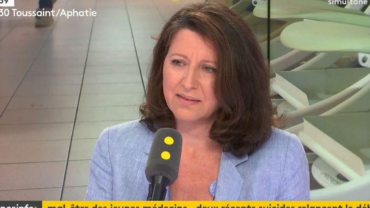 Agnès Buzyn, ministre des Solidarités et de la Santé, invitée de franceinfo mardi 26 juin. (RADIO FRANCE / FRANCE INFO)