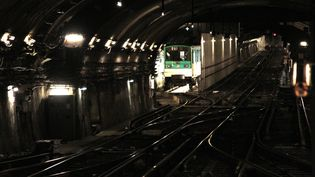 Un métro de la ligne 12 à Paris, (photo d'illustration du 15 février 2010). (JACQUES DEMARTHON / AFP)