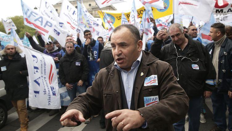 Jean-François Forget, secrétaire général du syndicat pénitentiaire UFAP-UNSA en octobre 2015 (VINCENT ISORE / MAXPPP)