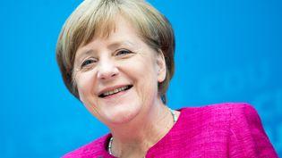 Angela Merkel, le 15 mai 2017. (MICHAEL KAPPELER / DPA)