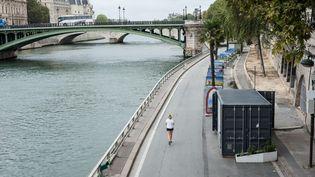 La piétonnisation des berges sur la rive droite au cœur de Paris, le 17 septembre 2016. (MAXPPP)