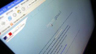 Le site pour déclarer ses impôts. (THOMAS COEX / AFP)
