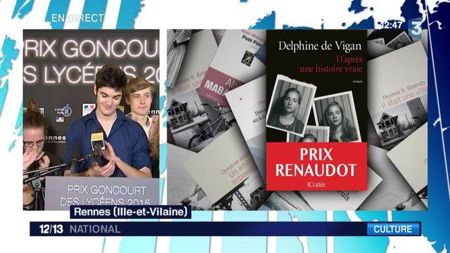 Le prix Goncourt des lycéens remis à Delphine de Vigan